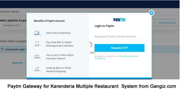 Paytm Gateway (India) for Karenderia Website