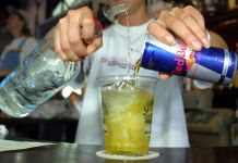 Avoid mixing Red Bull with Alcohol