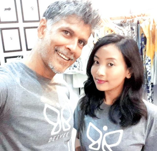 Milind Soman trolled for dating an 18 year old