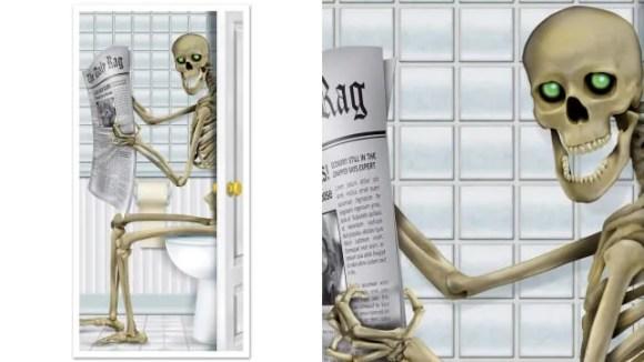Beistle Skeleton Restroom Door Cover