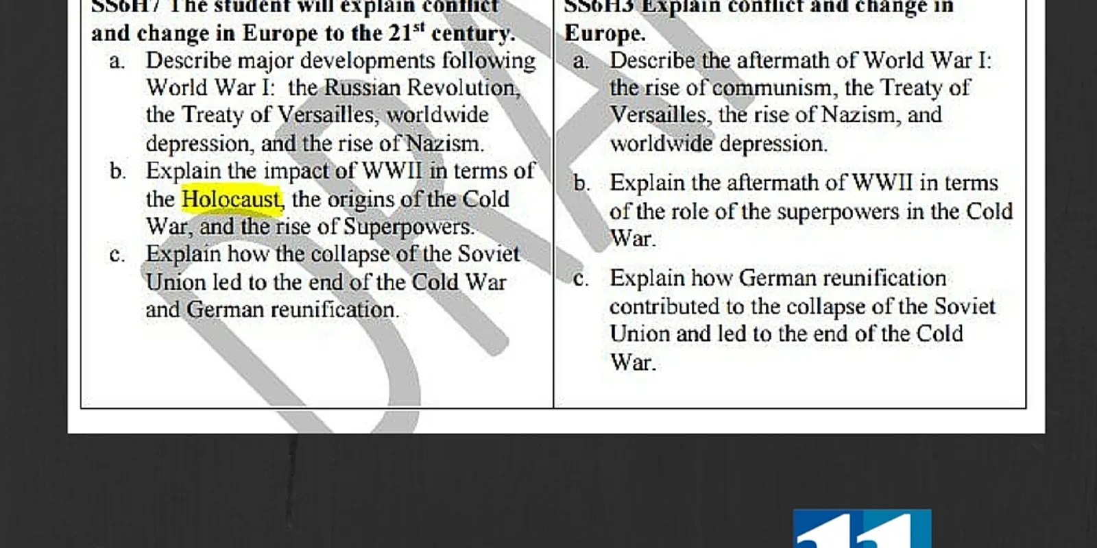New Social Stu S 6th Grade Curriculum Would Cut Out Slavery Holocaust