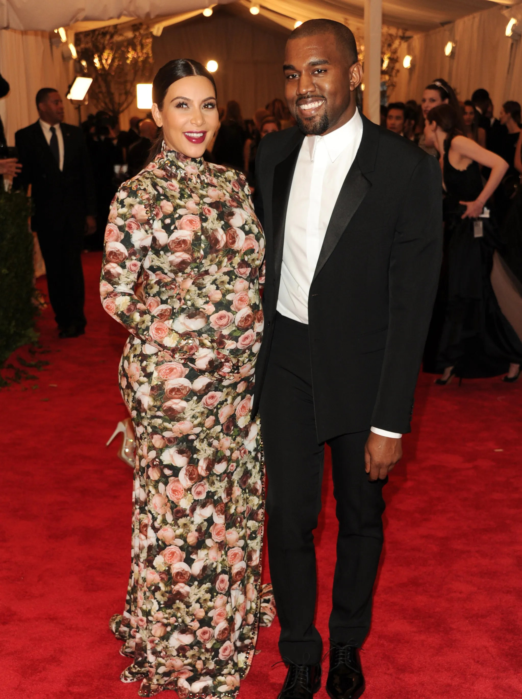 In this famous -- or infamous -- May 6, 2013 pic, West and Kardashian attend the Met Ball in New York, fashion's biggest night. She got major flack for her Givenchy dress.