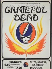 A poster advertises the Grateful Dead the May 1977
