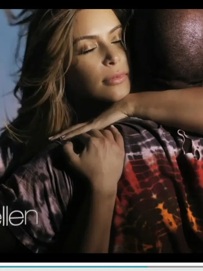Kardashian and West show their love in this Nov. 19, 2013, screen grab from his video for 'Bound 2,' which received a sendup from Seth Rogen and James Franco.