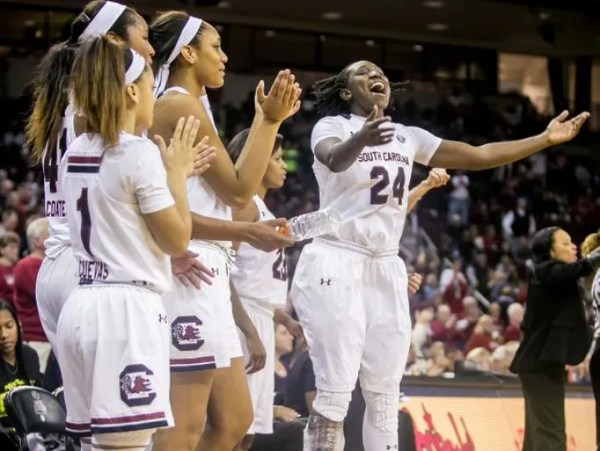 South Carolina women's basketball, 79, Texas A&M 61