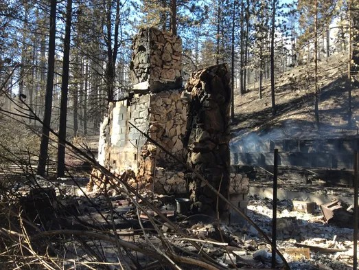 Fire in the Washoe Valley. (Photo provided to RGJ)