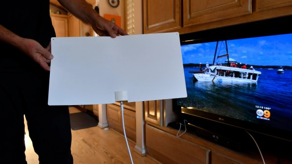 The Mohu indoor TV antenna brings over-the-air programming
