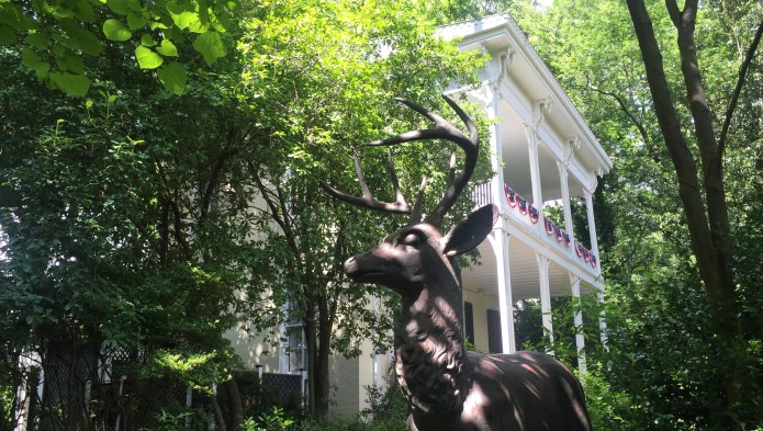 McRaven Tour Home, tucked away at the end of Harrison Street in Vicksburg, makes the most of its haunted reputation.