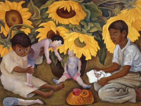 """""""Sunflowers"""" (1943), by Diego Rivera, is featured in"""