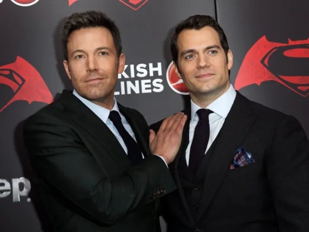 epa05223596 US actor Ben Affleck (L) poses with British