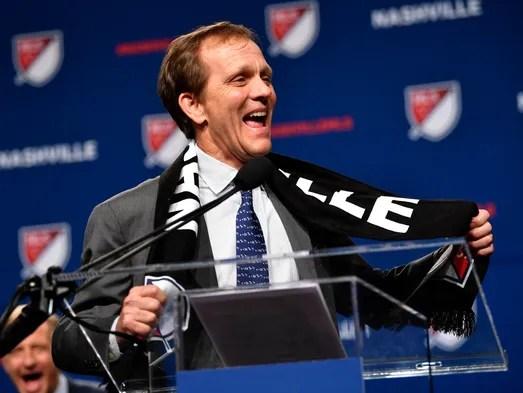 John Ingram, Nashville SC's lead investor, wears a