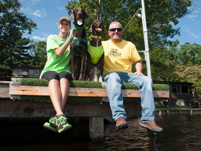 Medford Lakes residents Brian and Jenny Beadling compete