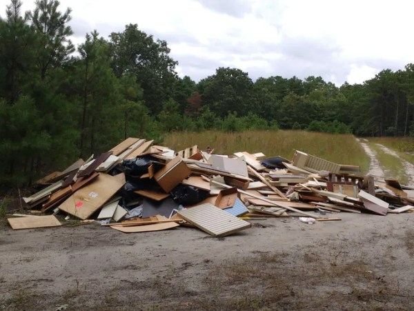 Park service trash found in wildlife area