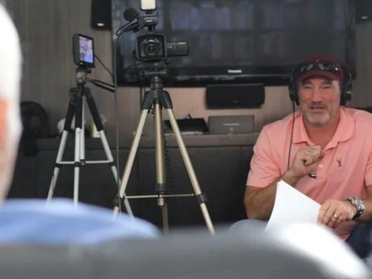 David Van Wie on set in Detroit.