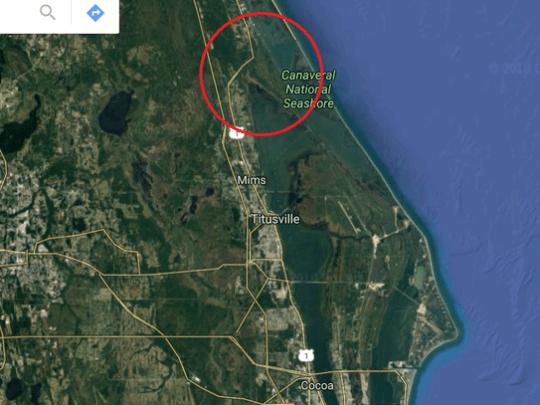 Where Merritt Island technically meets the mainland