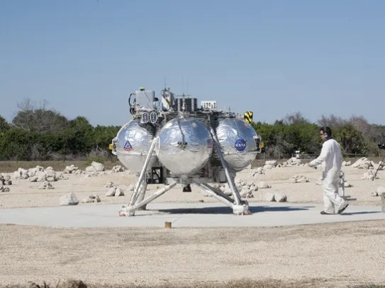 On Feb. 12, 2014, a technician checked NASA's Project