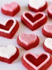 Heart-shaped candies