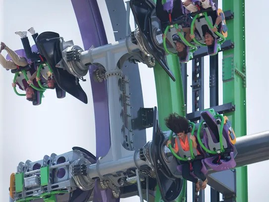 The Joker coaster at Six Flags Great Adventure opened