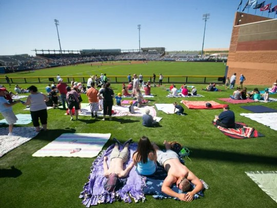 The lawn at the Arizona Diamondbacks spring training