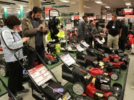 Sears store associates in Schaumburg, Ill. help customers