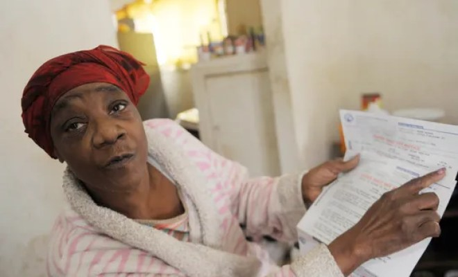 Fayette Coleman talks about her water bill.