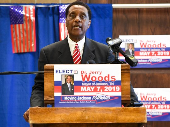 Dr. Jerry Woods announced his candidacy for mayor of