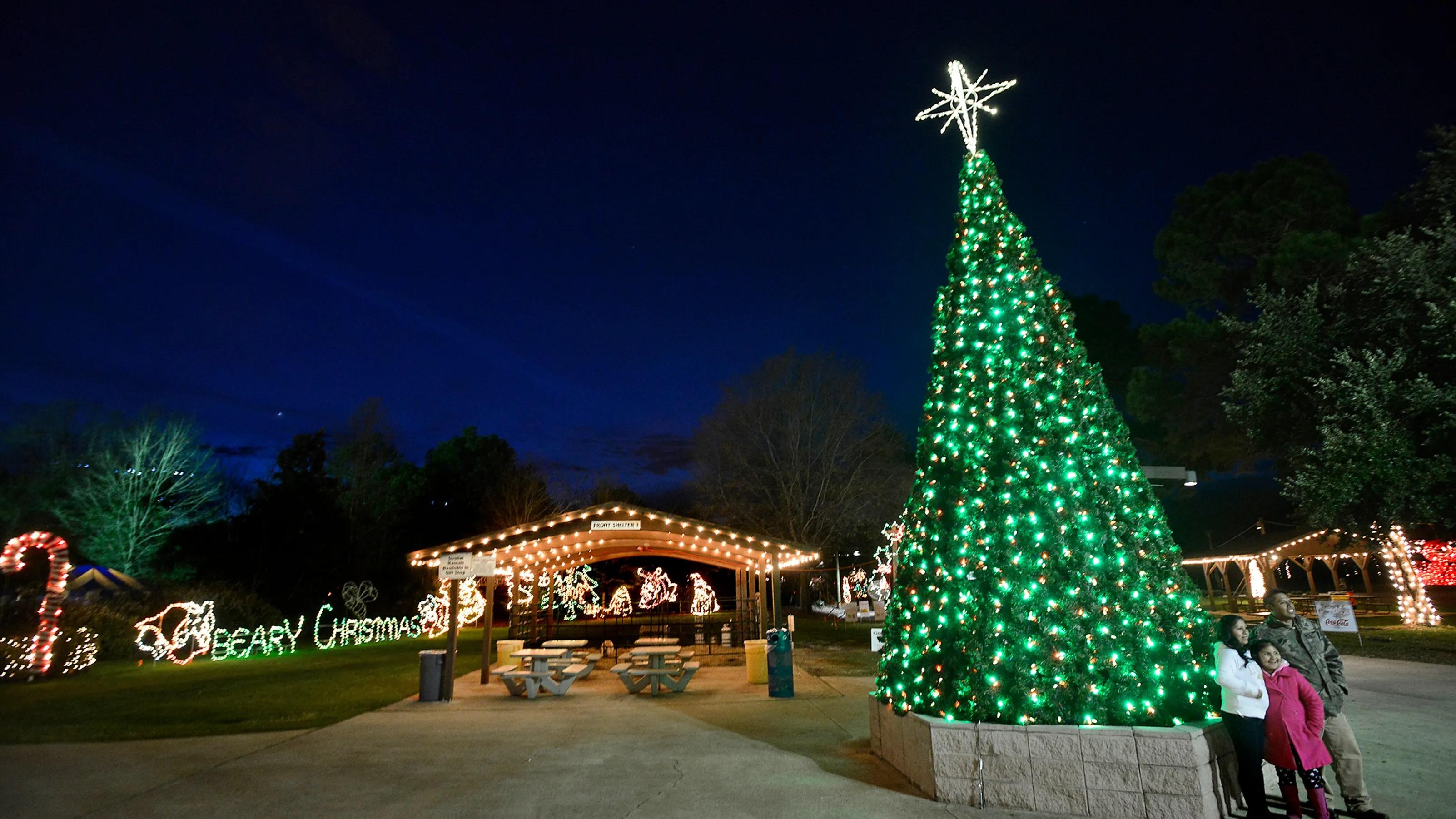 Montgomery Al Zoo Christmas Lights