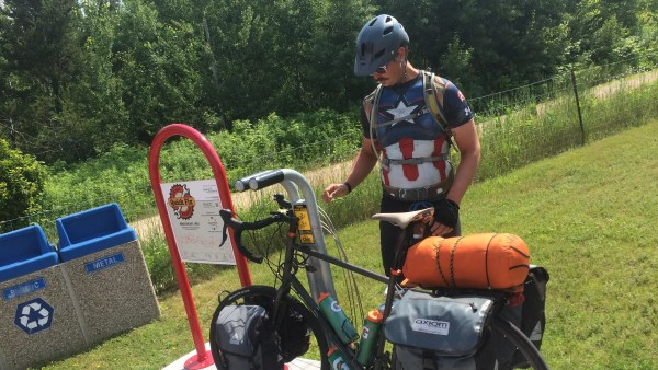 Kyle Shilts' cross-country bike ride comes to its end