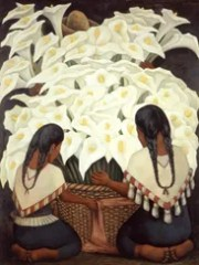 """""""Calla Lily Vendor"""" (1943), by Diego Rivera, is featured"""