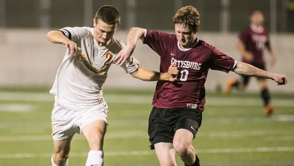 Central York's Carter Luckenbaugh (2), tries to shield