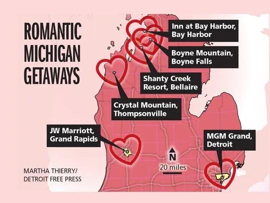 6 Lovey Dovey Valentine Getaways In Michigan