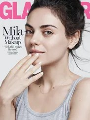 Mila Kunis posed without makeup for the back cover