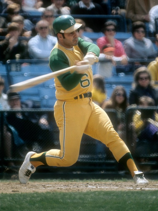 The Oakland Athletics of the 1960s and early 1970s had all manner of yellow-and-green combinations.