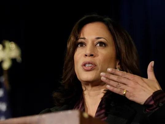 Kamala Harris blasts Trump and immigration in first speech