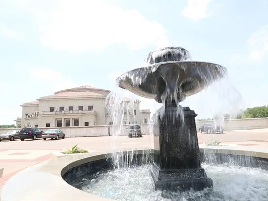 A fountain adds to the ambience at Carmel City Center,