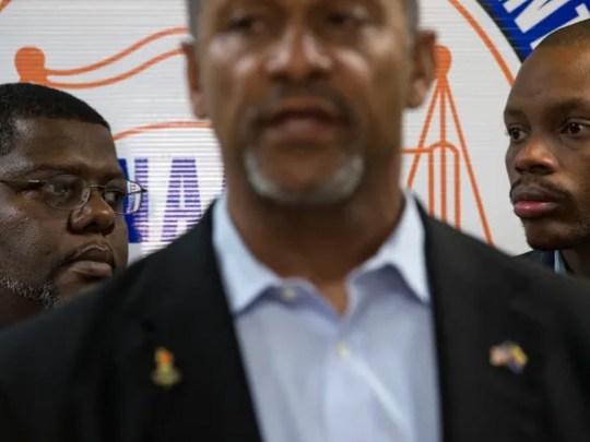 Reginald Walton (left), Black Lives Matter, and State