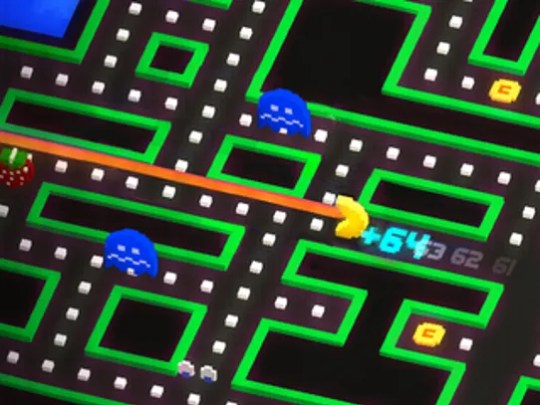A scene from Pac-Man 256.