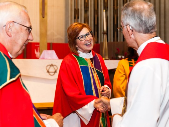 Rev. Deborah Hutterer was installed as bishop of the Grand Canyon Synod of the Evangelical Lutheran Church in America at Shepherd of the Valley Lutheran Church in Phoenix, Arizona on Sept. 8, 2018.