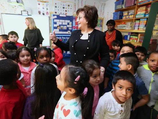 State Education Commissioner MaryEllen Elia visits