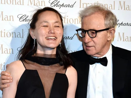 Woody Allen  and his wife Soon Yi at the Cannes Film
