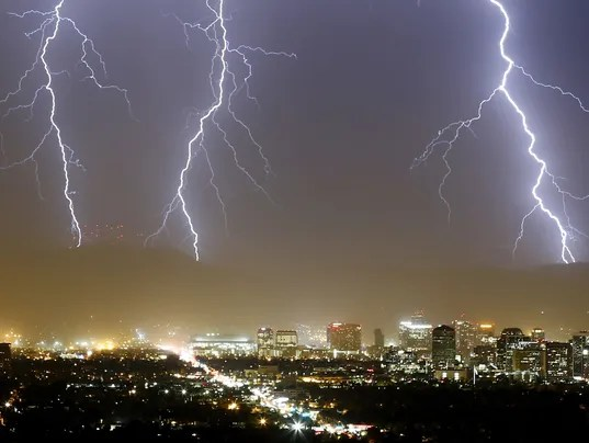 Monsoon Lightning Storm