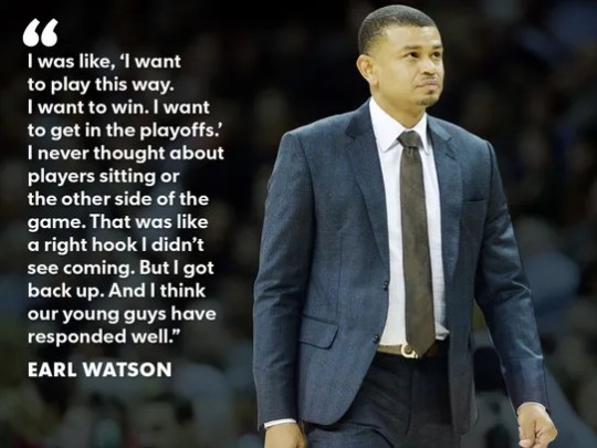 Suns coach Earl Watson was caught off-guard when management