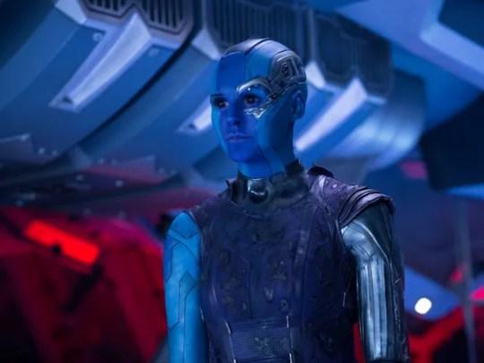 "Karen Gillan, plays Nebula in ""Guardians Of The Galaxy"