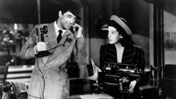 Cary Grant and Rosalind Russell are bickering exes