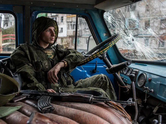 Donetsk People's Republic Rebel, i.e., The Media Elite's Bad Guy Du Jour