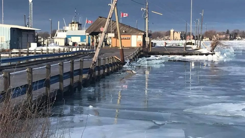 Nearly a year after an ice jam damaged the Bluewater Ferry docks in Sombra, Ontario, the service to Marine City and back remains halted.
