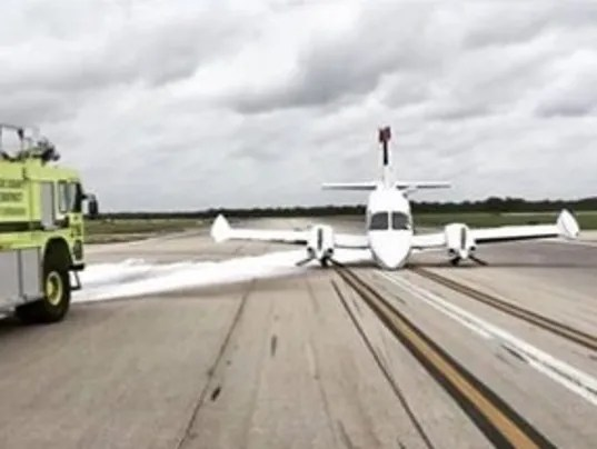 Plane with landing gear issues lands safely at Treasure ...