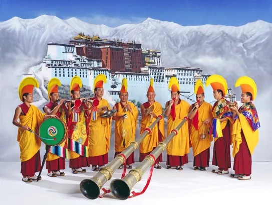 Tibetan monks of the Drepung Loseling Monastery in