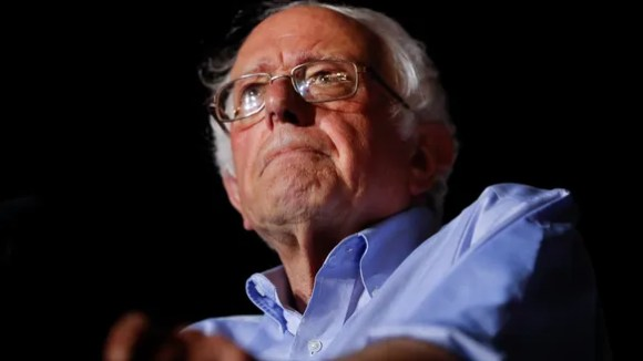 Sen. Bernie Sanders speaks during a Care Not Cuts