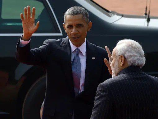 President Obama and Indian Prime Minister Narendra
